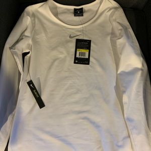 Nike dri fit pro warm slim top white small